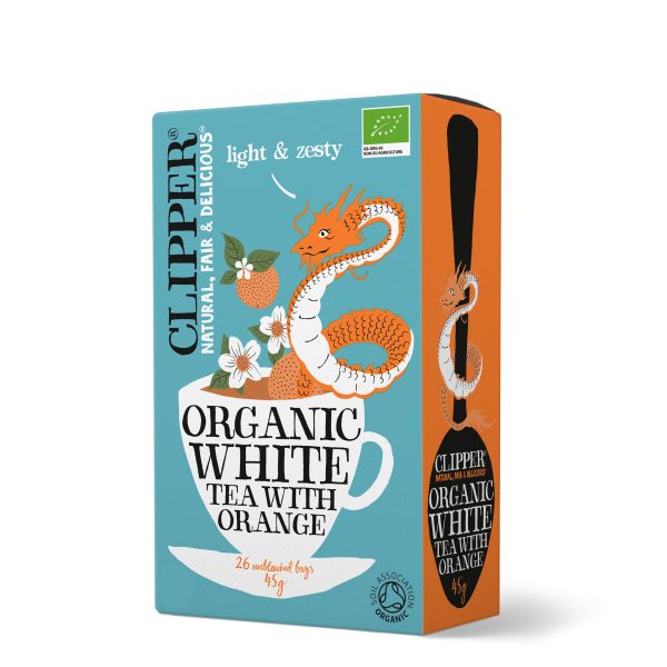 Organice white tea with orange