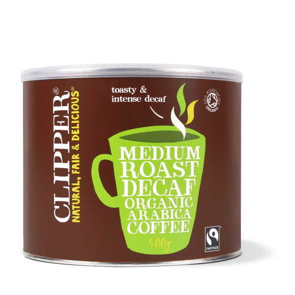 organic medium roast decaf arabica coffee 500g