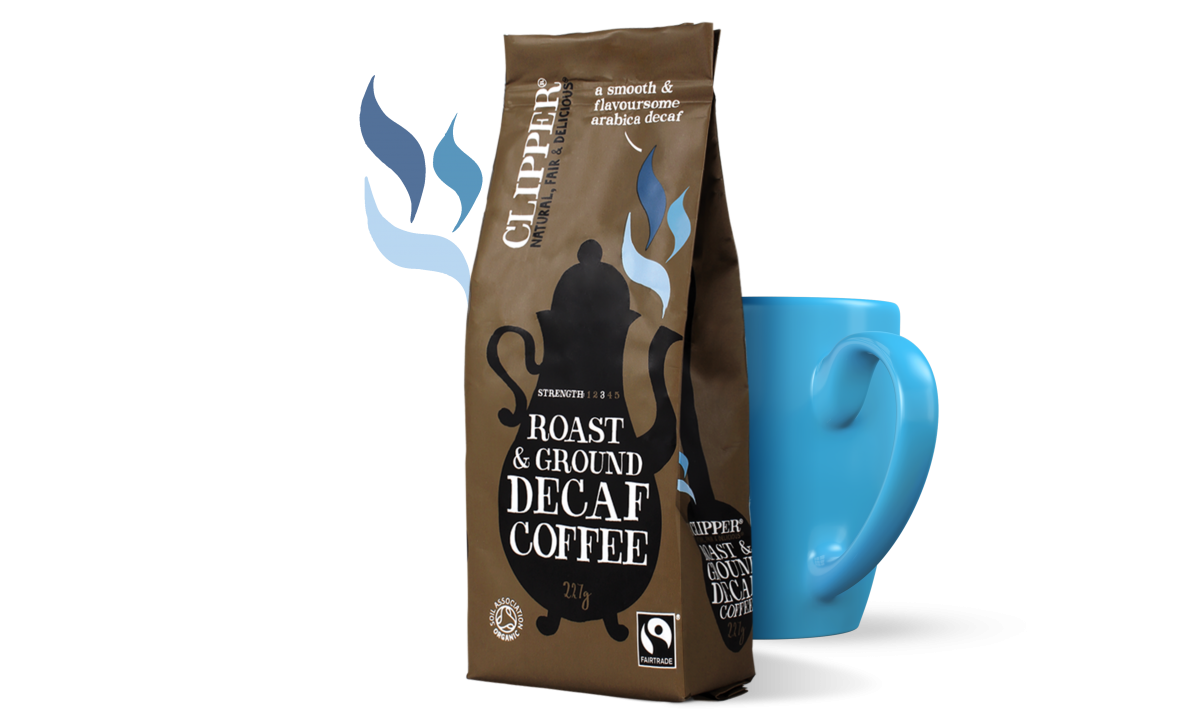 Fairtrade roast ground decaf coffee