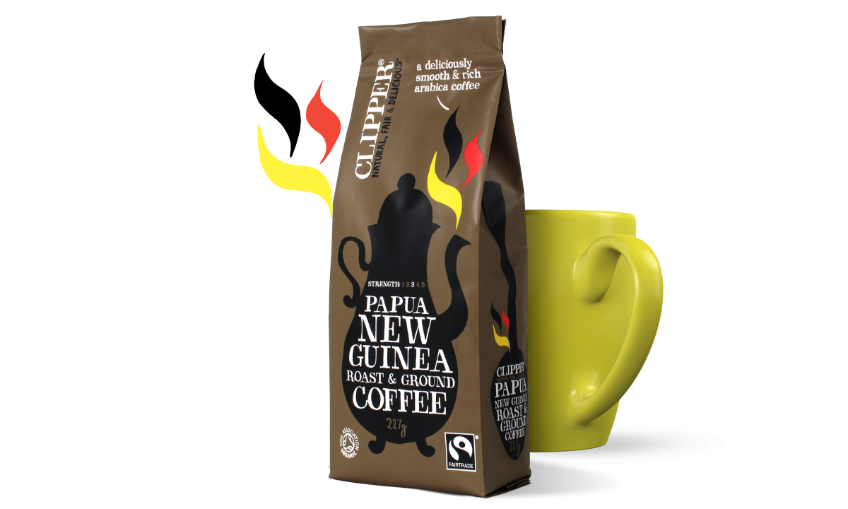 Fairtrade roast ground papua new guinea coffee