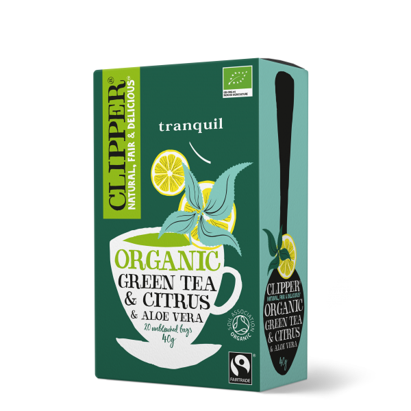 Organic Fairtrade Green Tea & Citrus & Aloe Vera