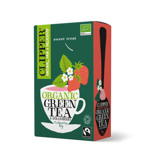 Organic Fairtrade Green Tea & Strawberry