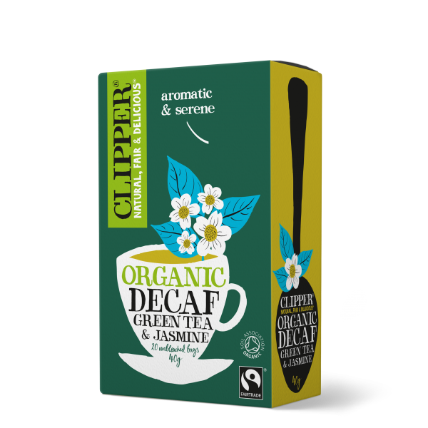 Organic Fairtrade Decaf Green Tea & Jasmine