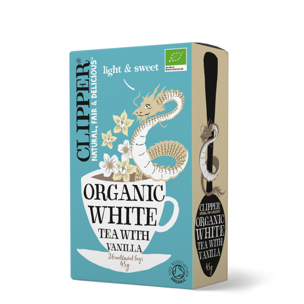 Organic white tea with vanilla