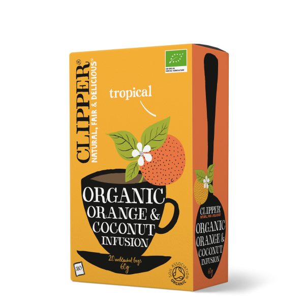 Organic orange coconut infusion
