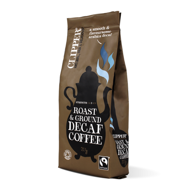Fairtrade roast ground decaf coffee