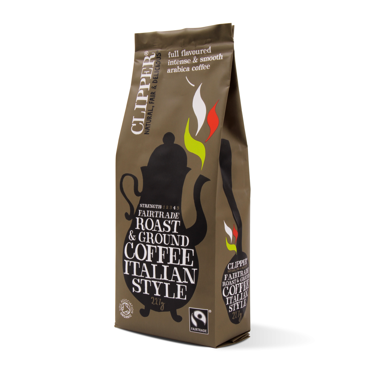 Fairtrade roast ground italian style coffee
