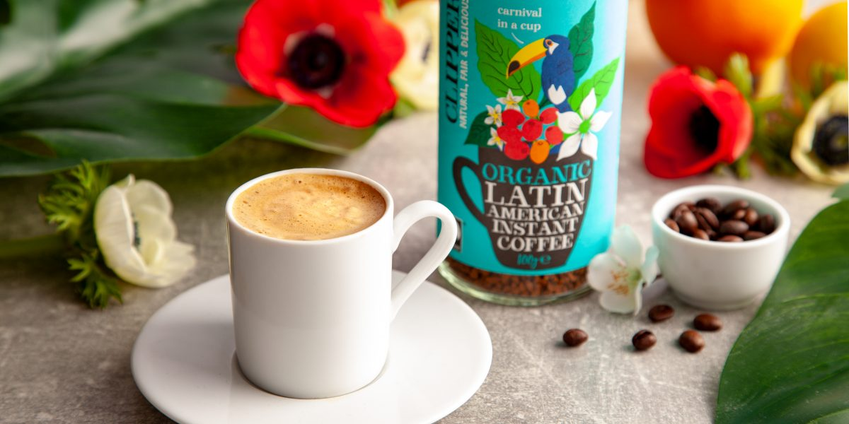 cup of clipper latin americn coffee