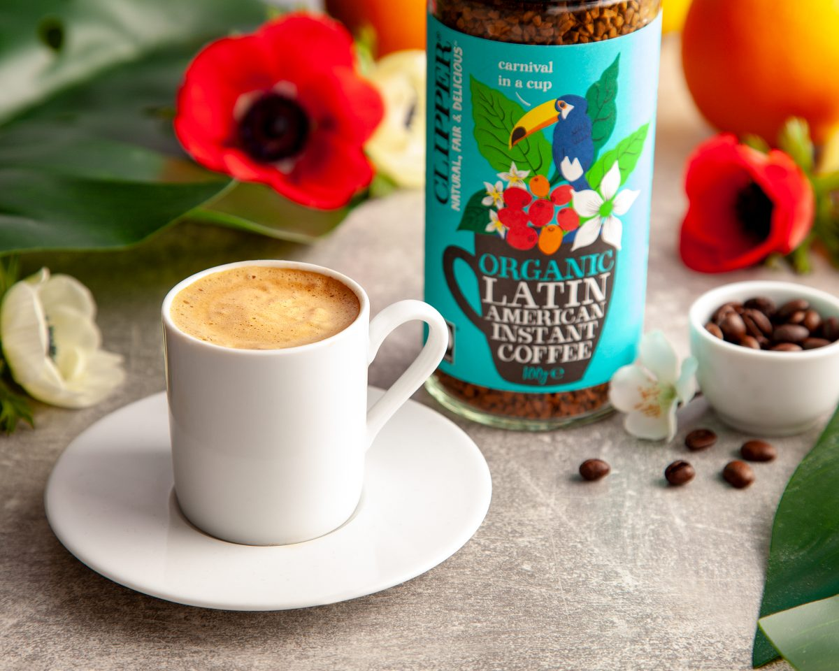 cup of clipper latin americn coffee