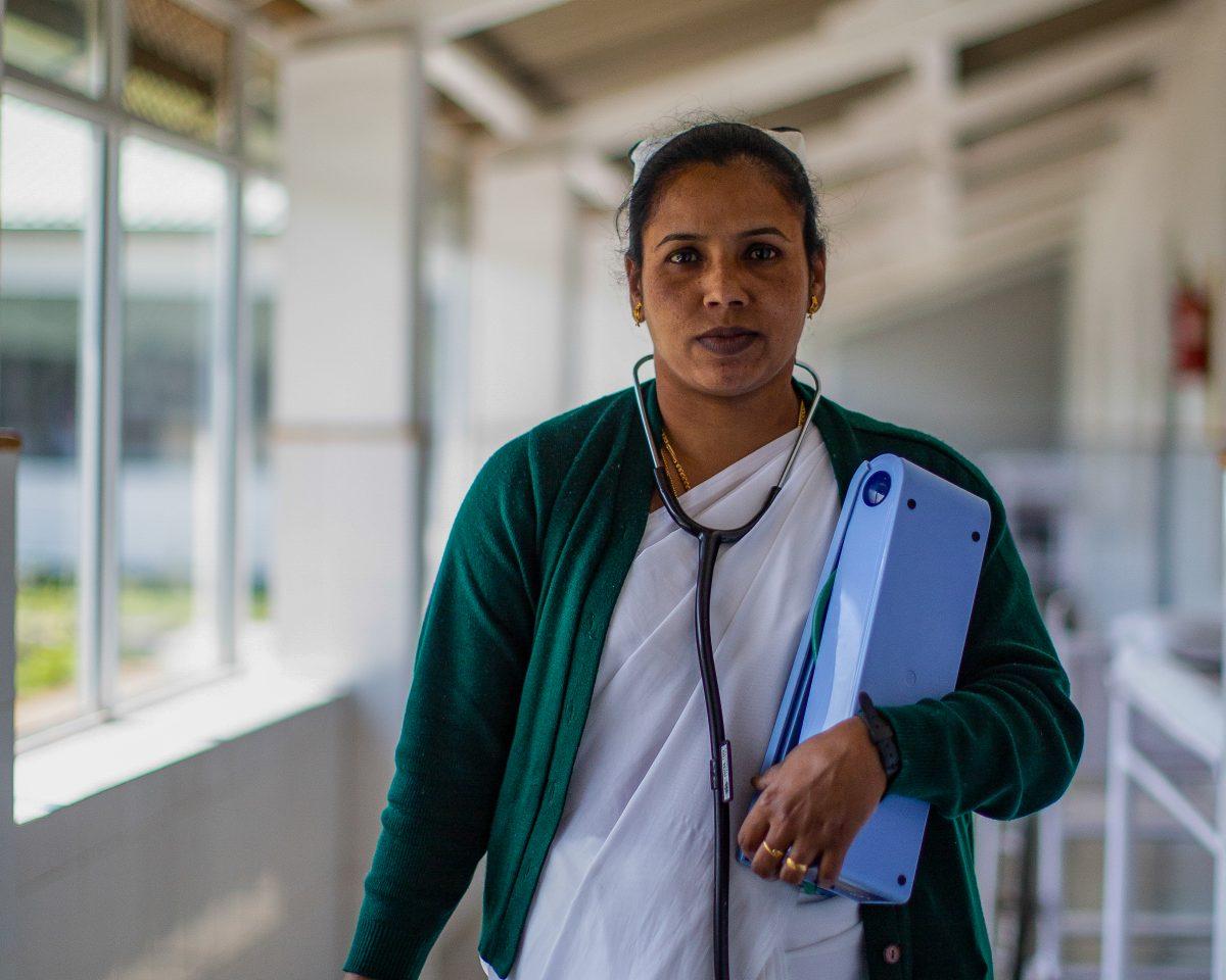 Vaccines Nurse Chamraj Hospital
