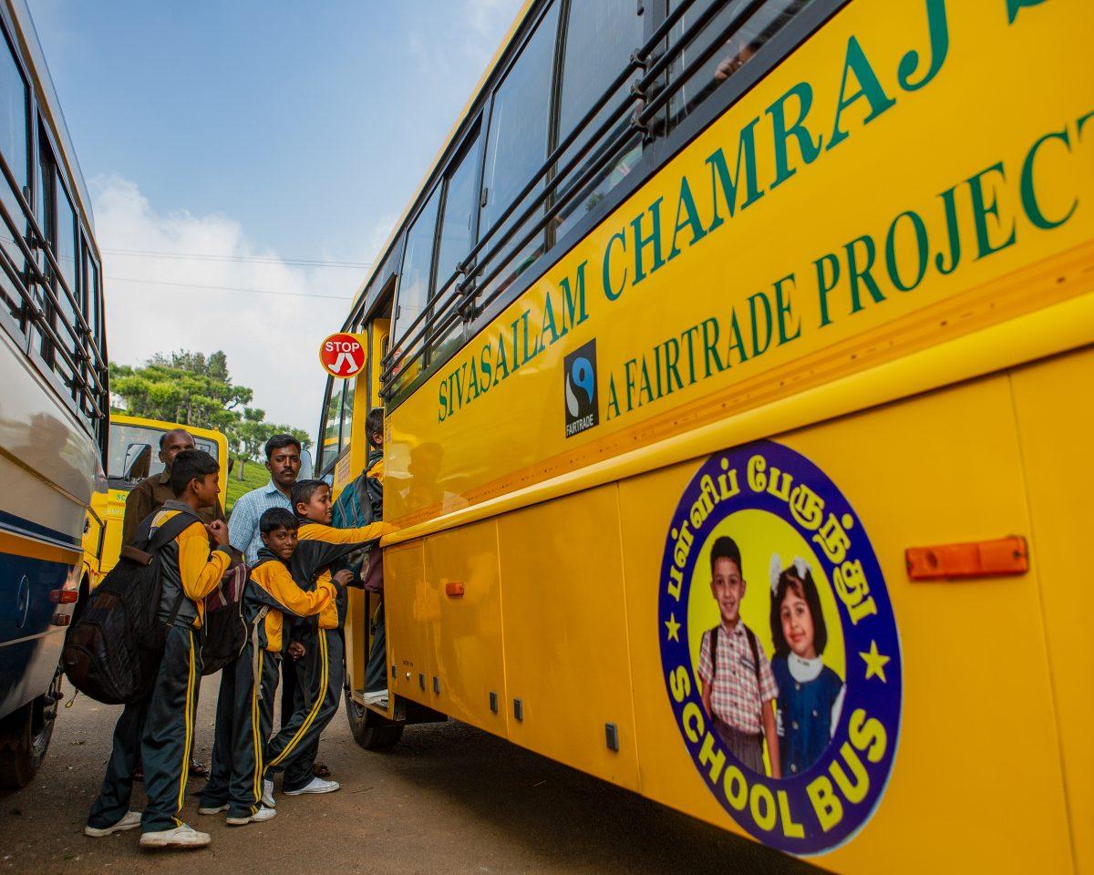 School bus Fairtrade Premium Chamraj Estate