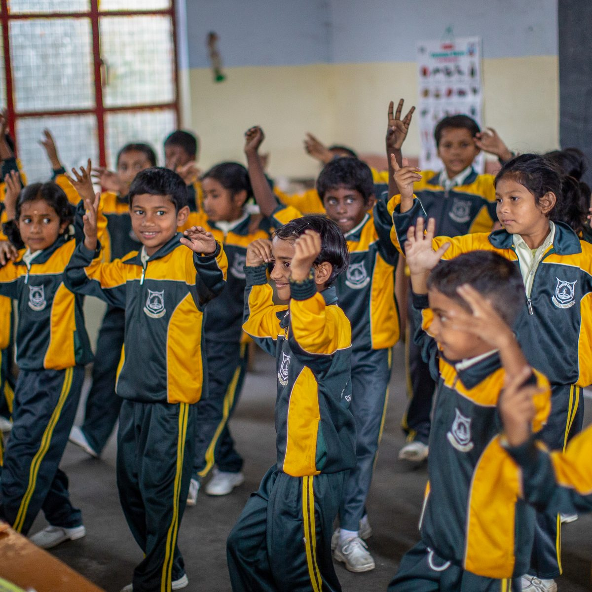 Pupils in class Sivasailam School