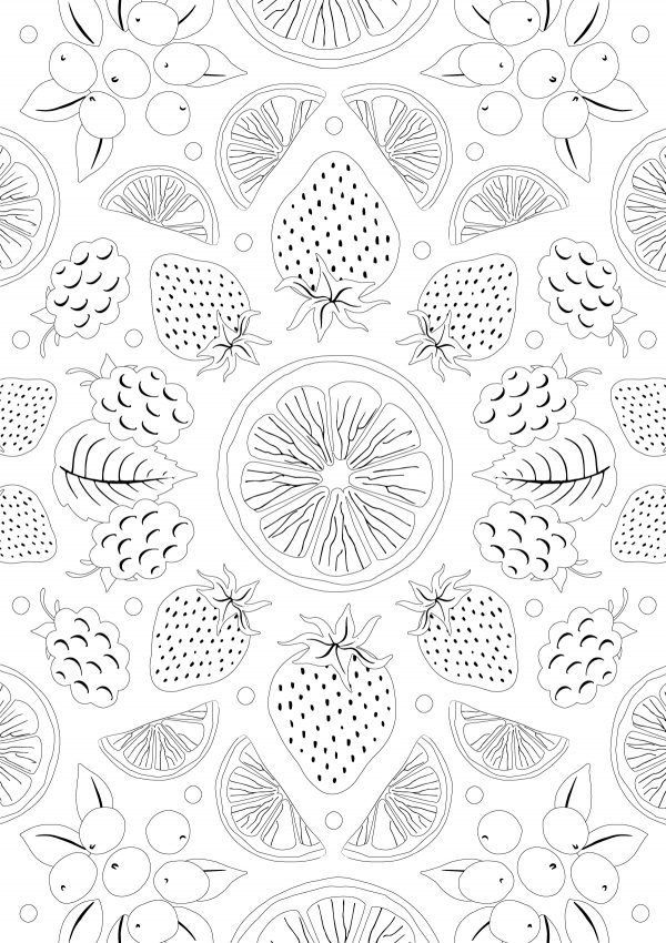 clipper Fruit colouring sheet