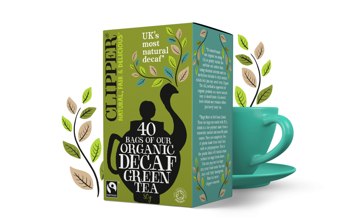Clipper Teas Decaf Green 40s tea bags