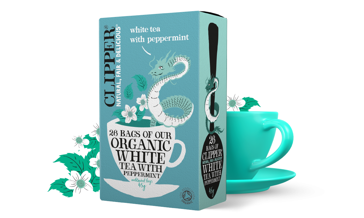 organic white tea with peppermint 26 bags