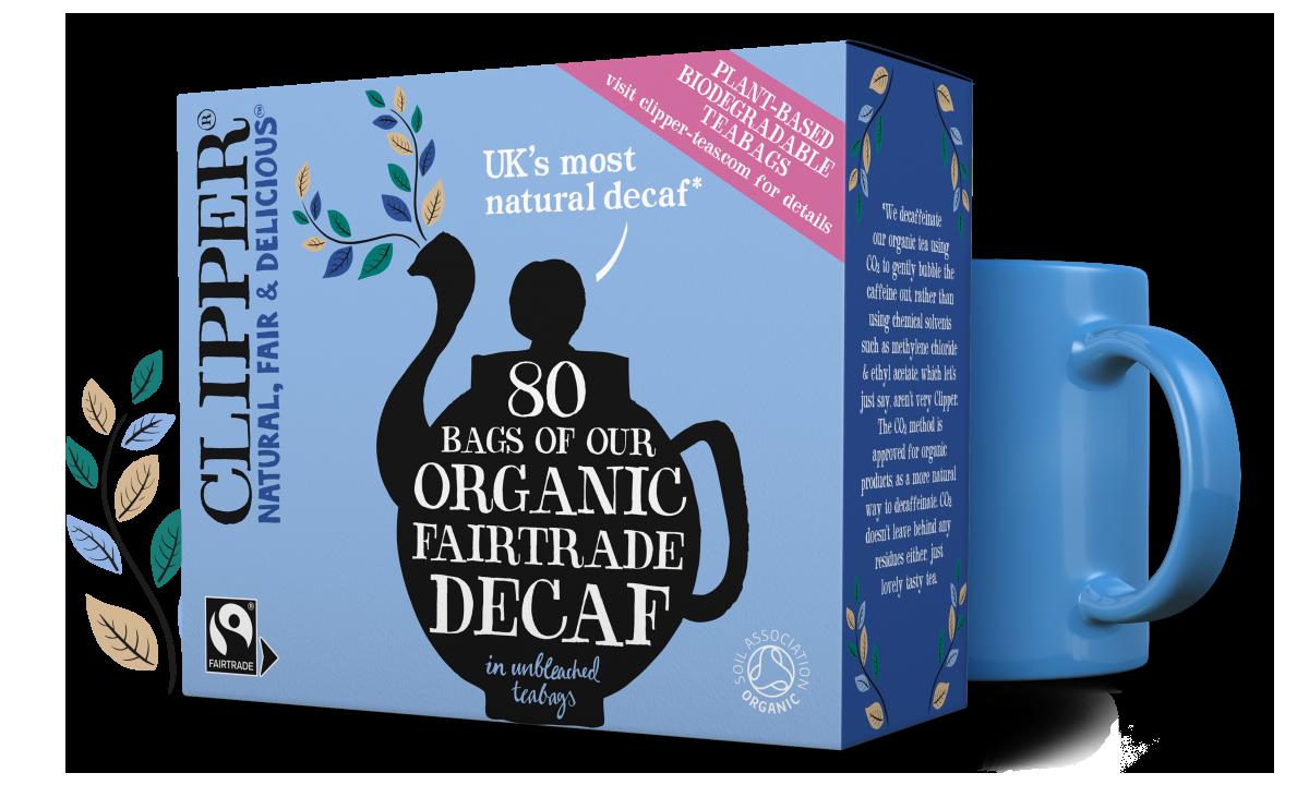 Clipper Tea Organic Fairtrade White Decaf Tea 80 tea bags